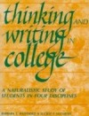 Thinking and Writing in College Cover