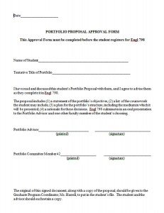 Portfolio Proposal Approval Form